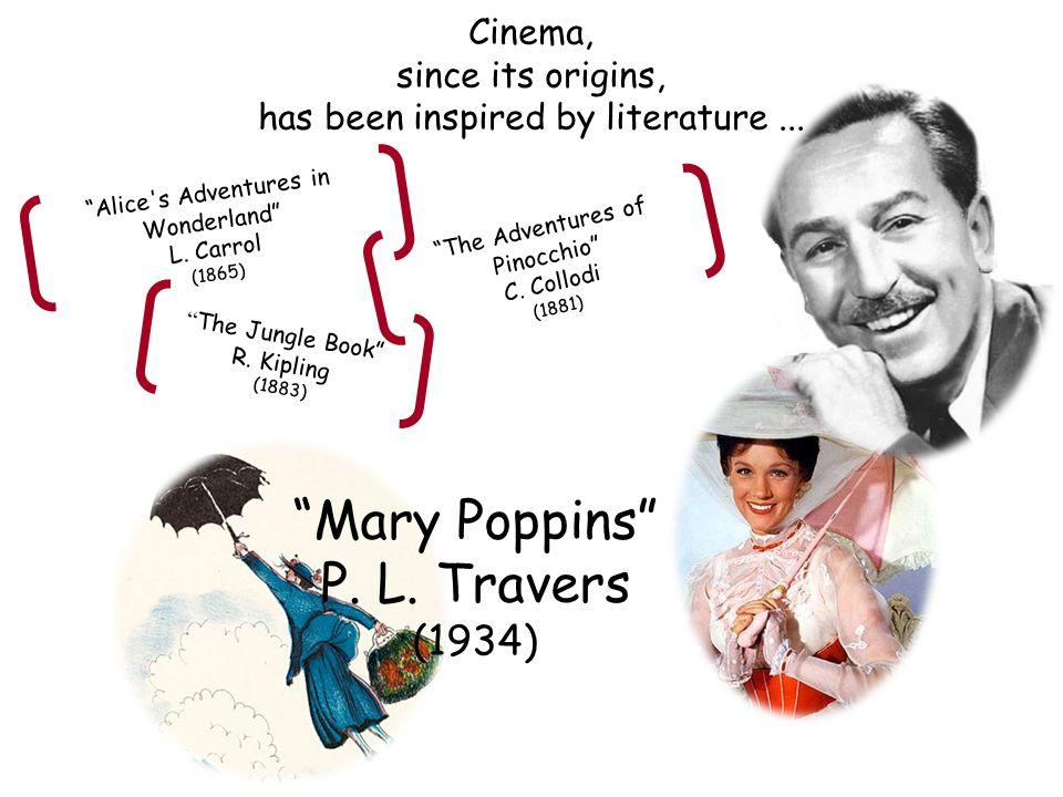 """Alice's Adventures in Wonderland"" L. Carrol (1865) "" The Jungle Book"" R. Kipling (1883) ""The Adventures of Pinocchio"" C. Collodi (1881) Cinema, since"