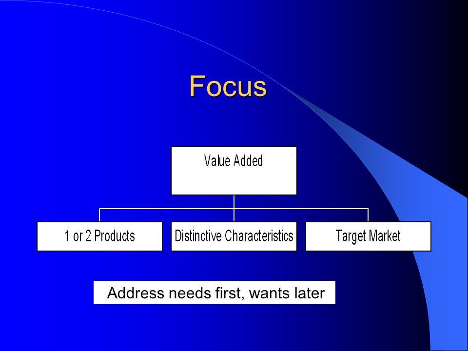 Focus Address needs first, wants later