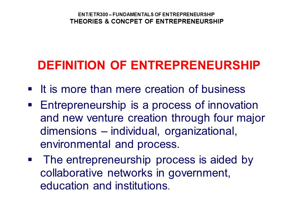 ENT/ETR300 – FUNDAMENTALS OF ENTREPRENEURSHIP THEORIES & CONCPET OF ENTREPRENEURSHIP SUCCESS FORMULA BY AL-QURTUBI Halal – livelihood that are in accordance to what is being outlined by Allah SWT and syariah.