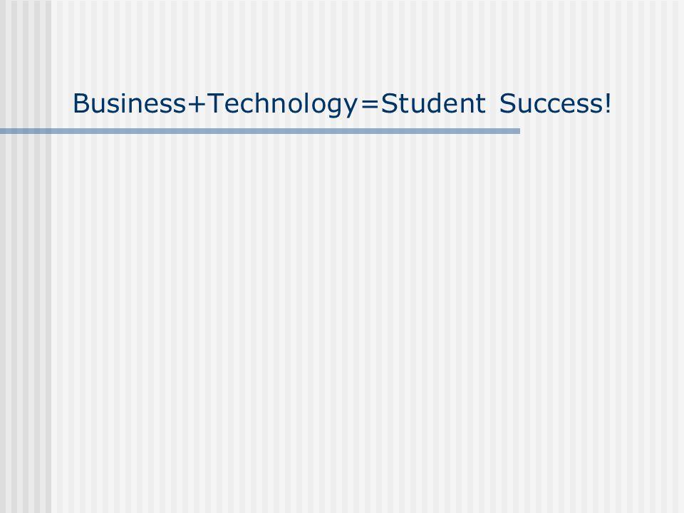 Business+Technology=Student Success!