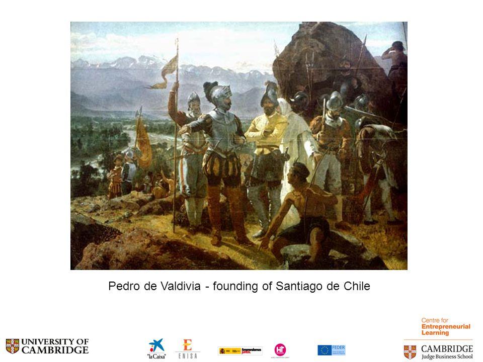 Pedro de Valdivia - founding of Santiago de Chile