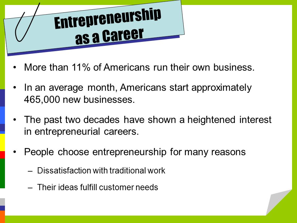More than 11% of Americans run their own business.