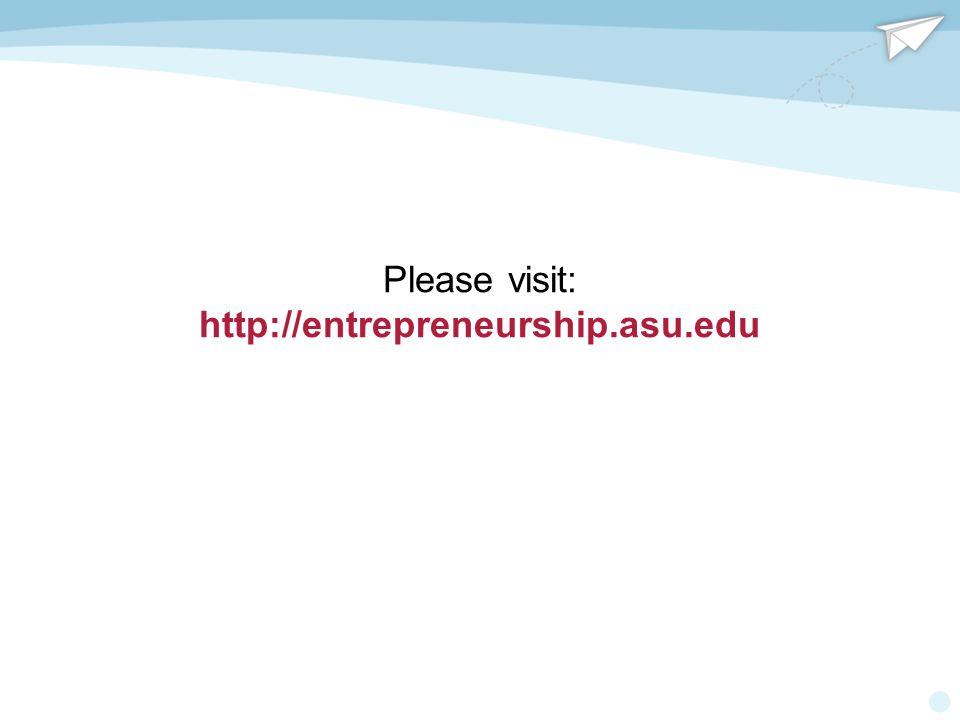 Please visit: http://entrepreneurship.asu.edu