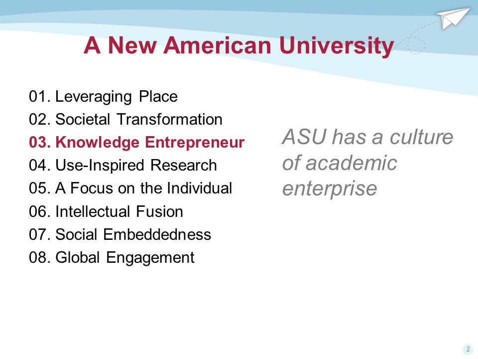 2 A New American University 01. Leveraging Place 02.