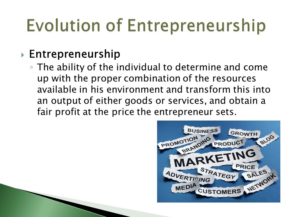 Contributor / YearContribution  PETER DRUCKER  (1998)  Entrepreneurship is the process of starting one's own new and small business.