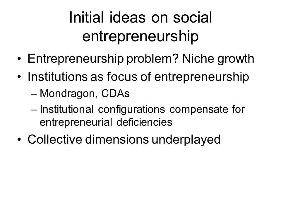 Initial ideas on social entrepreneurship Entrepreneurship problem.