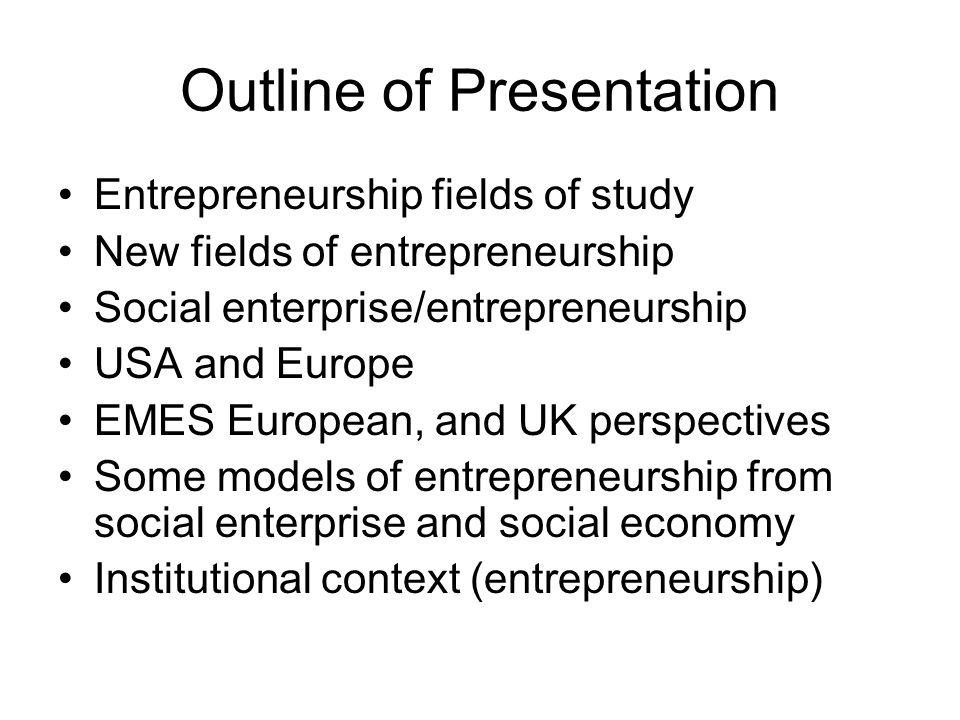 Entrepreneurship: social movement perspective 19th C.