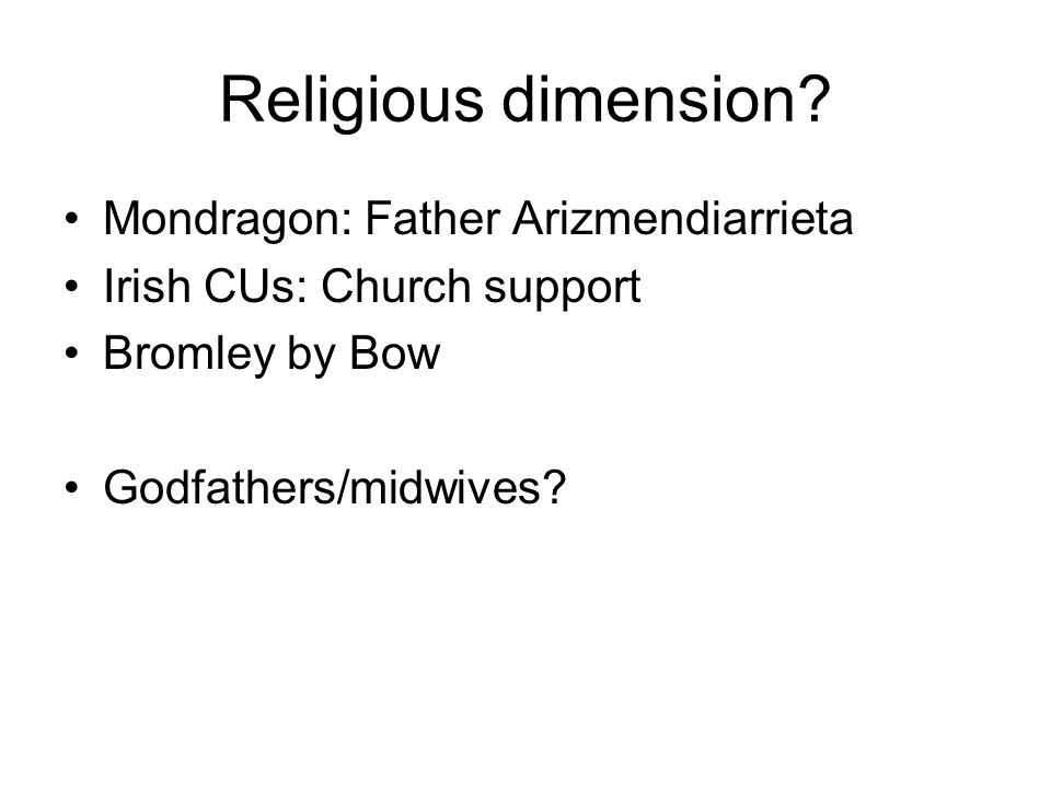 Religious dimension.