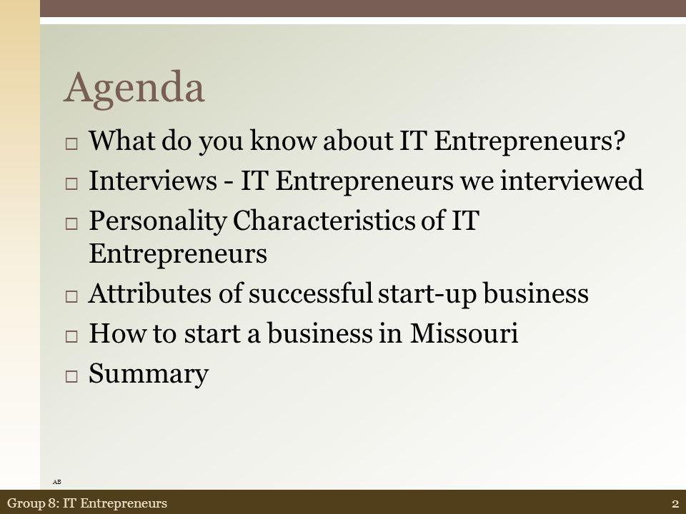 Wrap-Up 82Group 8: IT Entrepreneurs JB