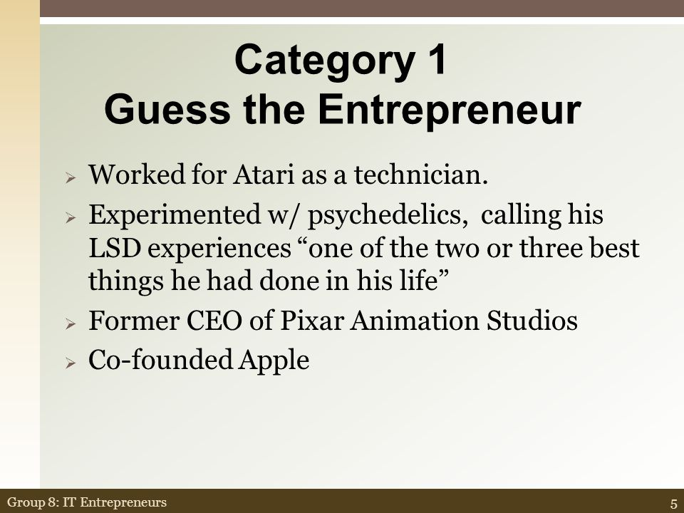 Attributes of successful start- up business 65Group 8: IT Entrepreneurs CR