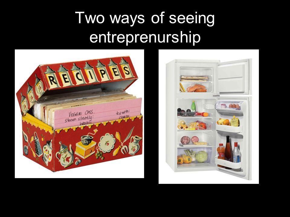 Two ways of seeing entreprenurship