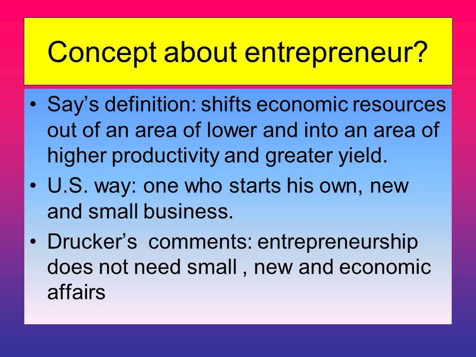 Concept about entrepreneur.