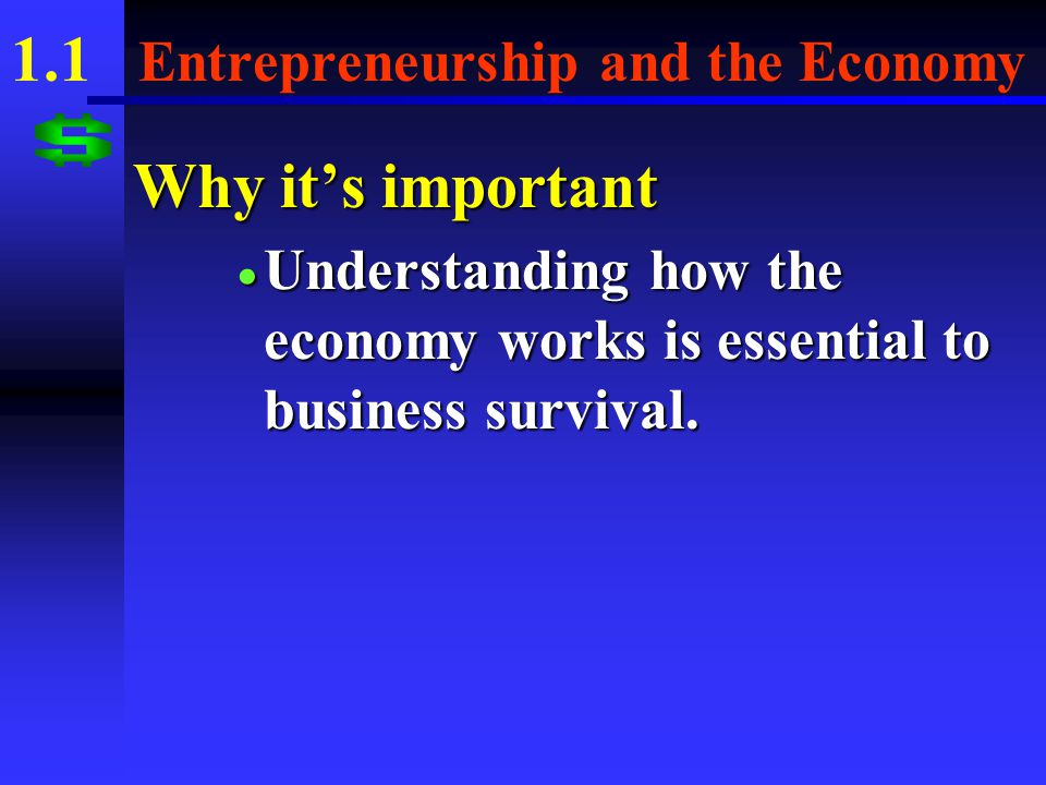1.1 Entrepreneurship and the Economy What you'll learn  The ways in which entrepreneurs contribute to a free enterprise system