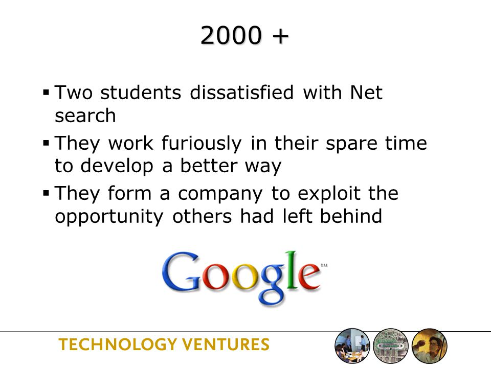 Stanford's Role  Interaction with industry (via legacy just discussed)  Research funding and creativity  Silicon Valley as a nearby planting ground for ideas  Role of students as inventors, as disseminators, and as part of the workforce  Encouraging entrepreneurship …