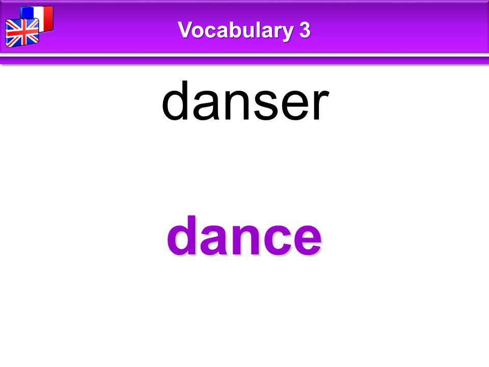 dance danser Vocabulary 3