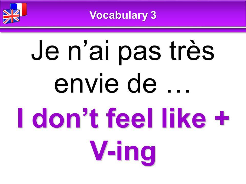 young jeune Vocabulary 3