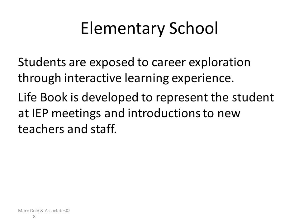 Elementary School Students are exposed to career exploration through interactive learning experience.