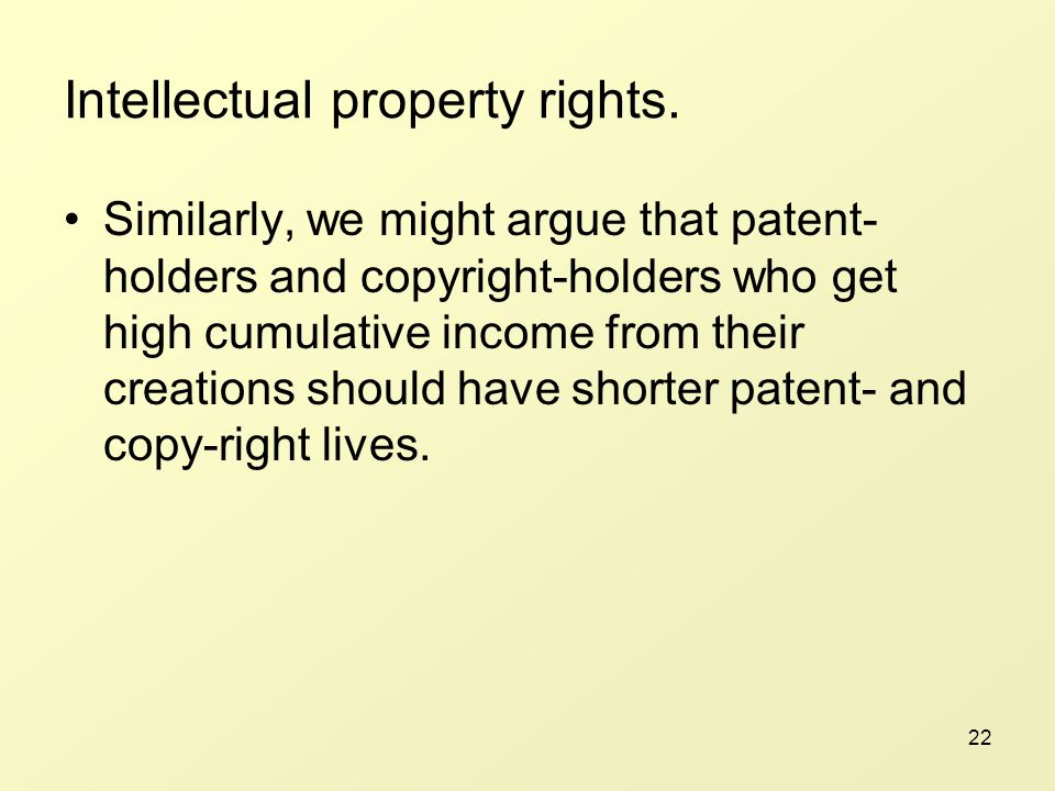 22 Intellectual property rights.