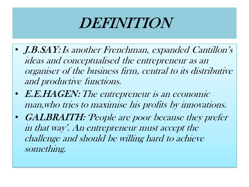 6.According to Capital ownership i.Private entrepreneur: When an individual or a group of individuals set up an enterprise, arrange finance, bear the risk and adopt the latest techniques in the business with the intention to earn profits, he or the group is called as private entrepreneur/entrepreneurs.