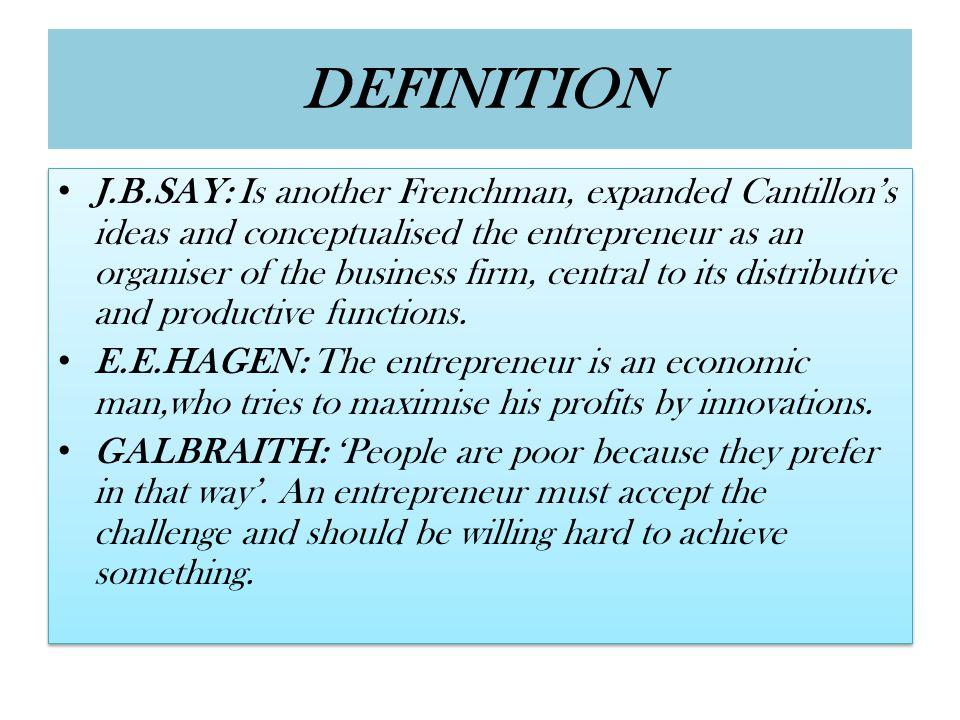DISTINCTION BETWEEN AN ENTREPRENEUR AND A MANAGER ENTREPRENEURS 1.Status: An entrepreneur is the owner of his enterprise.