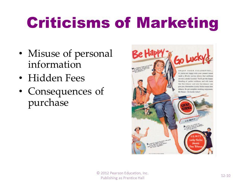 Marketing Strategy © 2012 Pearson Education, Inc. Publishing as Prentice Hall 12-11