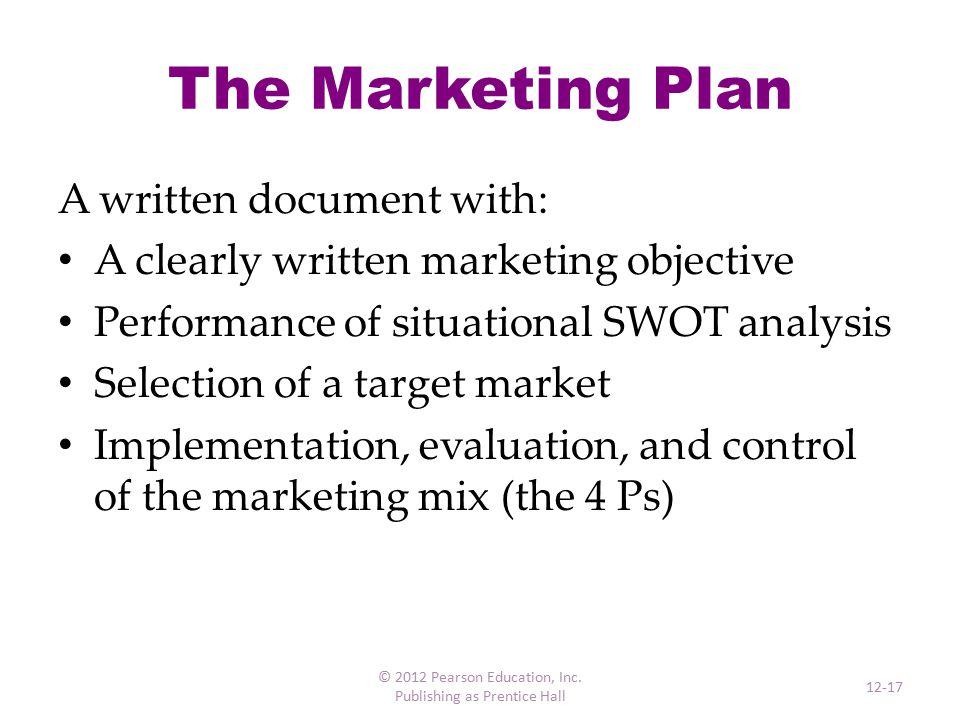 The 5 Cs of Marketing © 2012 Pearson Education, Inc. Publishing as Prentice Hall 12-18