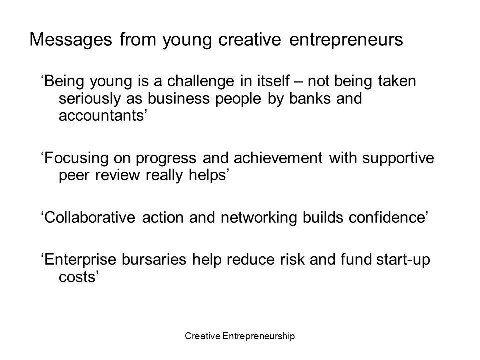 Creative Entrepreneurship Opportunity centred entrepreneurship What do I want.