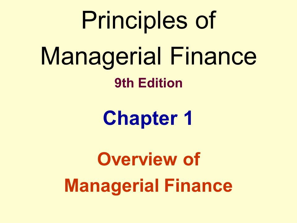 The Managerial Finance Function The firm's finance (treasurer) and accounting (controller) functions are closely-related and overlapping.