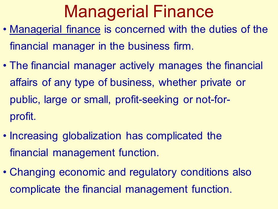 Goal of the Financial Manager Maximize Profit??.