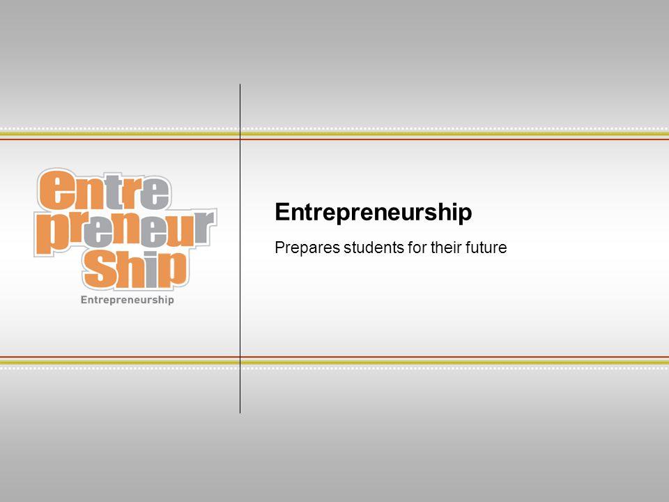 Entrepreneurship Prepares students for their future