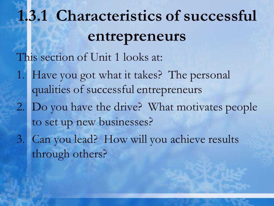 1.3.1(2) What motivates entrepreneurs.Q11.