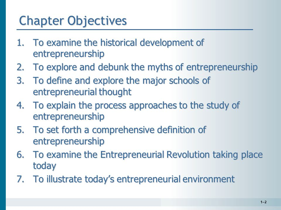 1–23 Our Entrepreneurial Economy— The Environment for Entrepreneurship Entrepreneurship is the symbol of business tenacity and achievement.