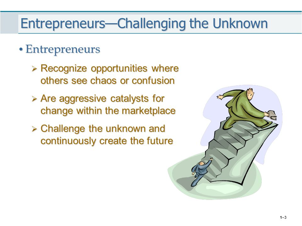 1–24 Predominance of New Ventures in the Economy Entrepreneurial Activity: Growth in Small Businesses Entrepreneurial Activity: Growth in Small Businesses  New business incorporations average 600,000 per year over the past decade.