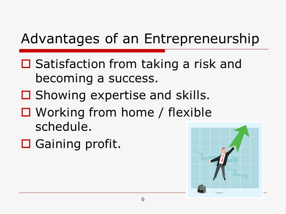 7 Disadvantages of an Entrepreneurship  Total responsibility for the business.