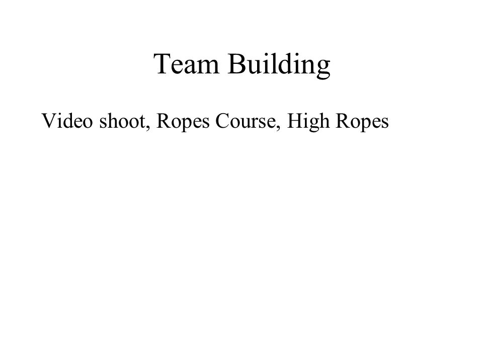 Team Building Video shoot, Ropes Course, High Ropes