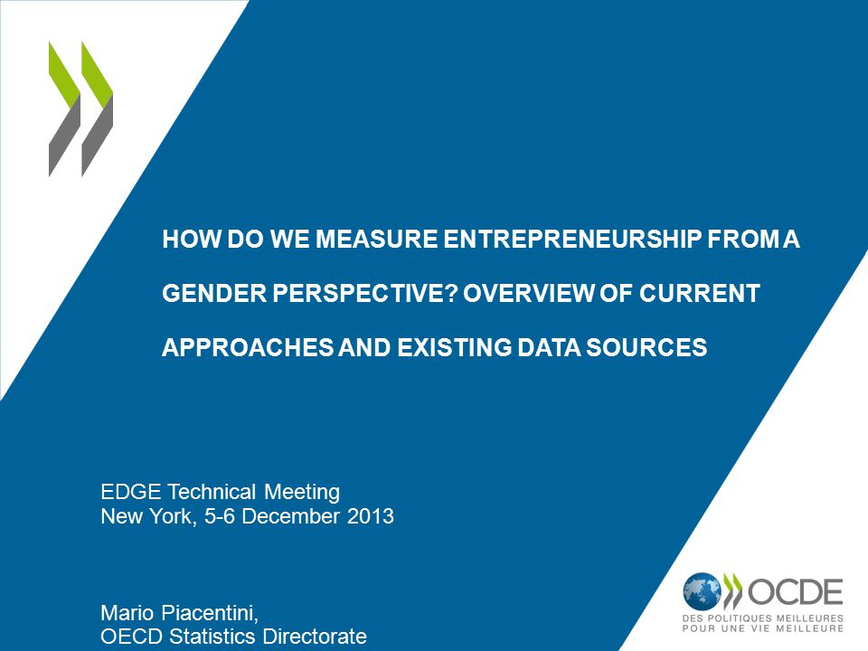 HOW DO WE MEASURE ENTREPRENEURSHIP FROM A GENDER PERSPECTIVE.