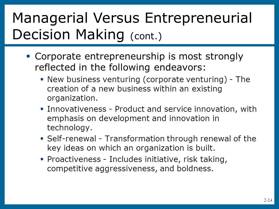 2-15 Table 2.3 - Characteristics of an Entrepreneurial Environment