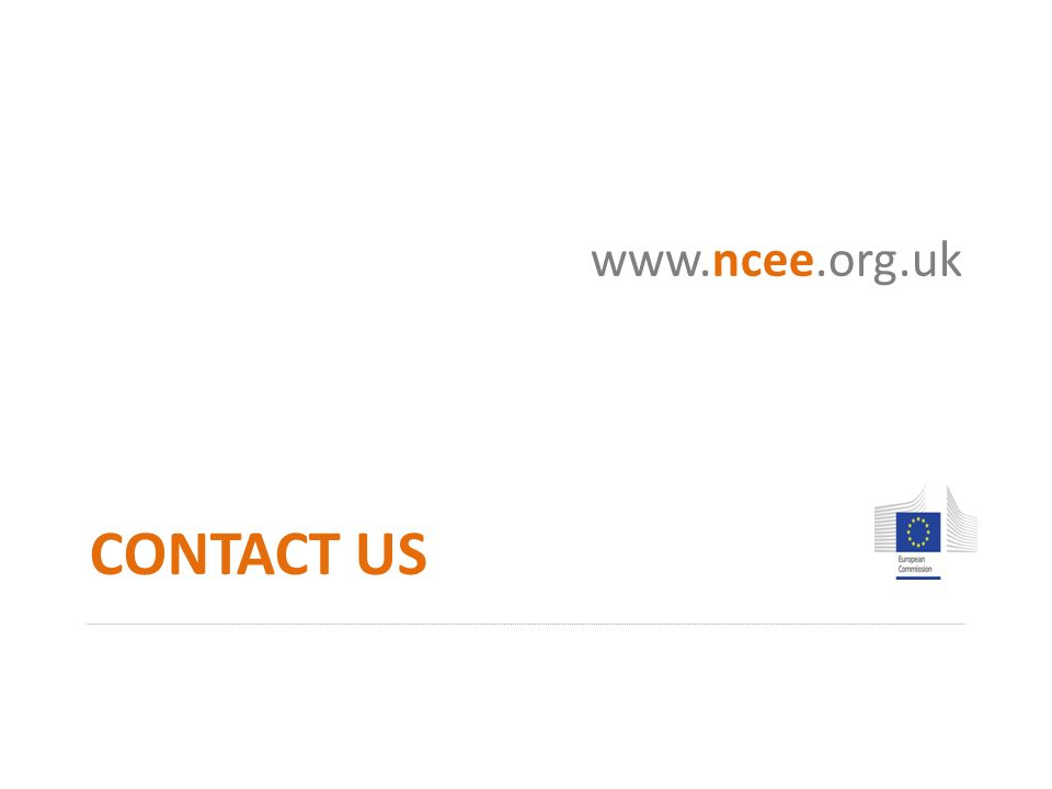 CONTACT US www.ncee.org.uk