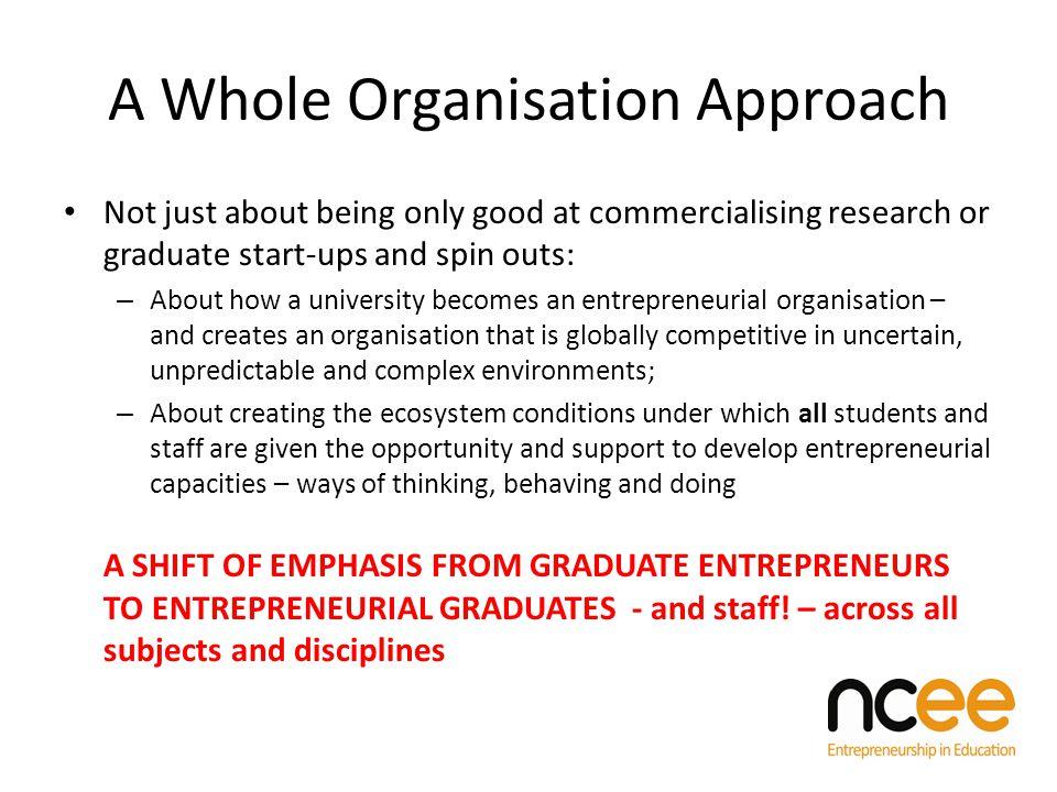 Guiding Framework for the Entrepreneurial University (DRAFT 2012) INSTITUTIONAL CONTEXT 1.