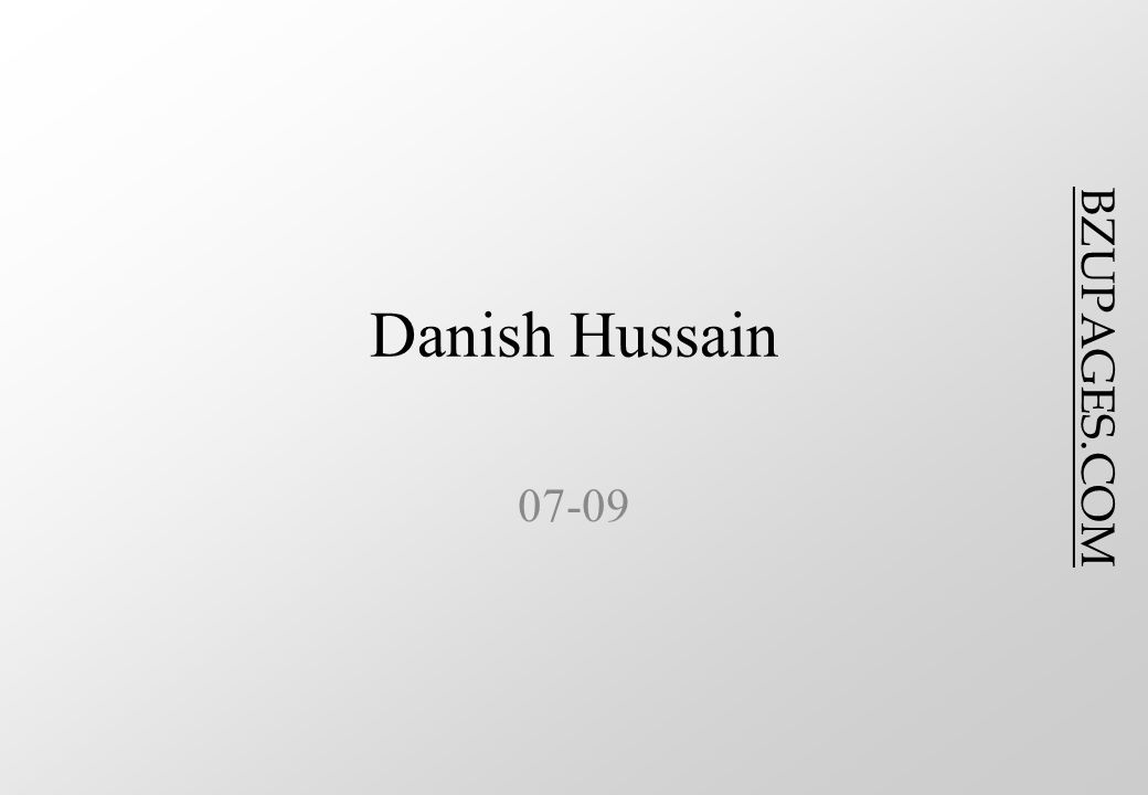 BZUPAGES.COM Danish Hussain 07-09
