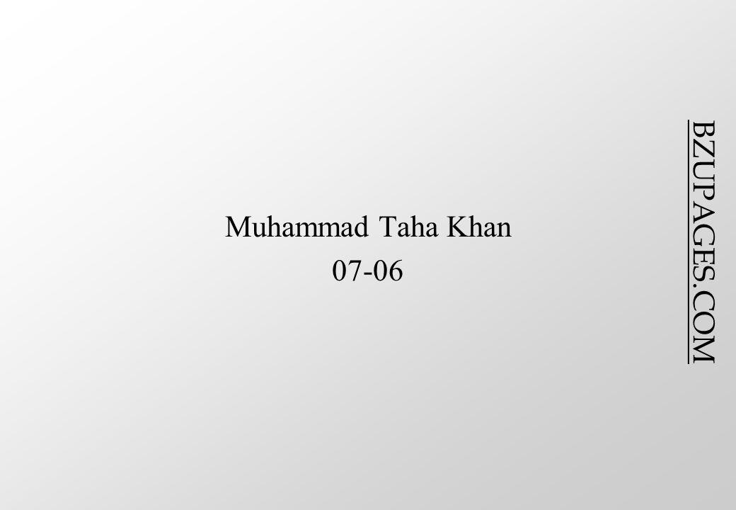 BZUPAGES.COM Muhammad Taha Khan 07-06