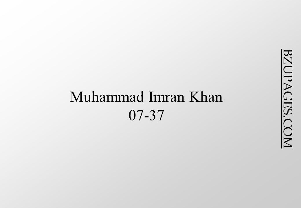 BZUPAGES.COM Muhammad Imran Khan 07-37