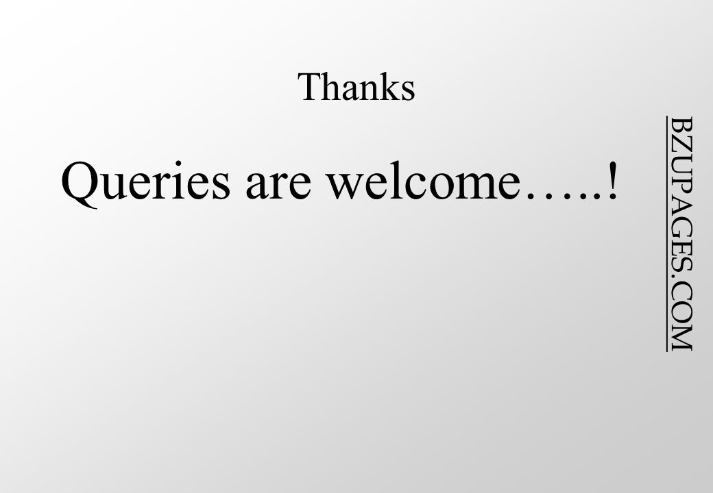 BZUPAGES.COM Thanks Queries are welcome…..!