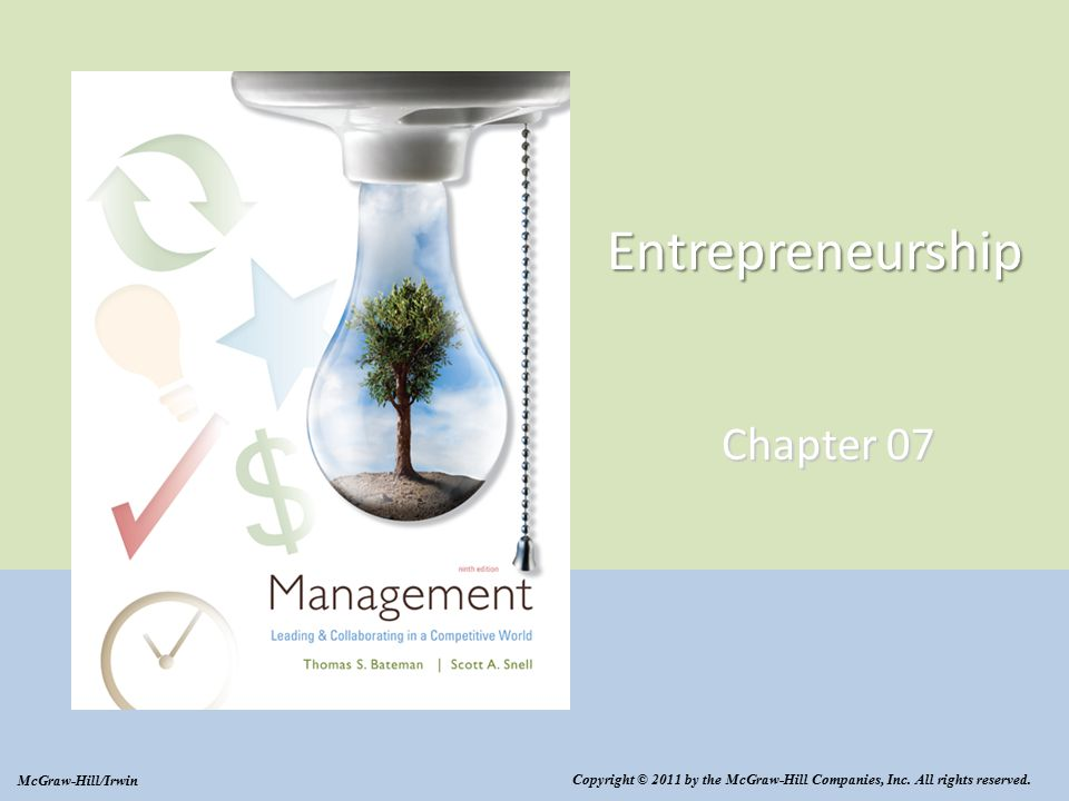 Entrepreneurship Chapter 07 Copyright © 2011 by the McGraw-Hill Companies, Inc.