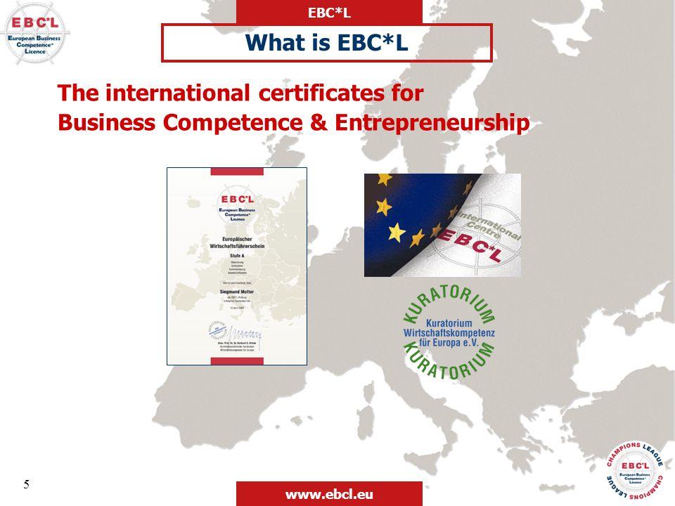 EBC*L www.ebcl.eu 26 EBC*L in Companies, Universities, Schools and VETs