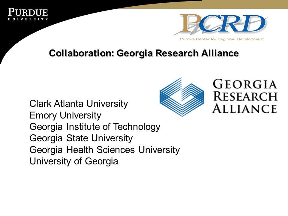 Collaboration: Georgia Research Alliance Clark Atlanta University Emory University Georgia Institute of Technology Georgia State University Georgia Health Sciences University University of Georgia