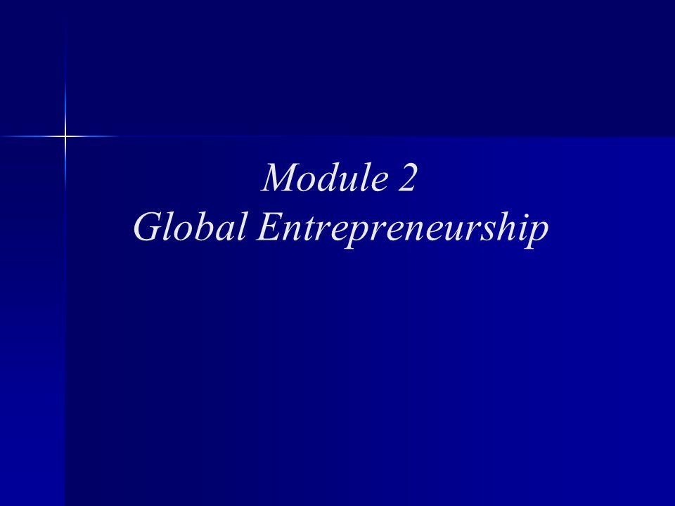 Module 2 Global Entrepreneurship