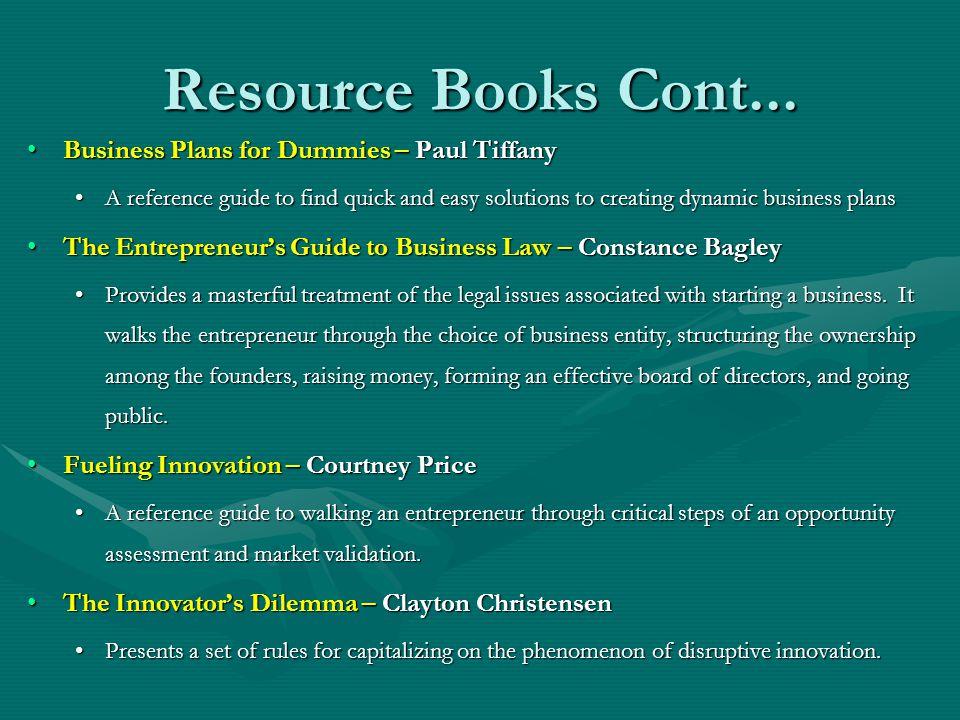 Resource Books Cont...