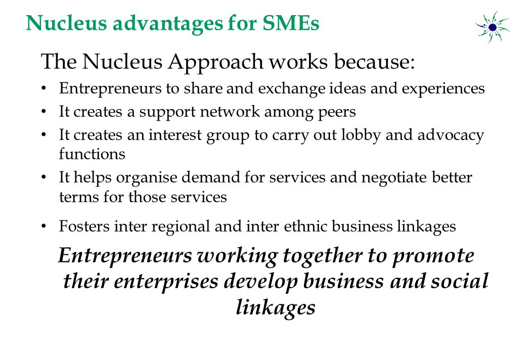 Nucleus Entrepreneur Exchange … Entrepreneurs working in ethnically isolated communities have little empathy for other communities.