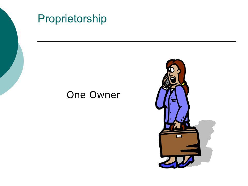 One Owner Proprietorship